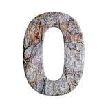 Numerowy list od korowatego drzewa odizolowywającego na białym tle Zdjęcia Royalty Free