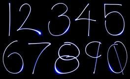 numerowy neon set Zdjęcie Royalty Free