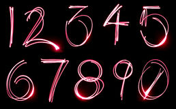 numerowy neon set Obraz Royalty Free