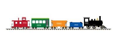 numerowy pociąg Fotografia Stock