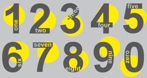 numerowy set Fotografia Royalty Free