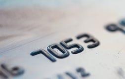Numeru karty kredytowej zbliżenie Zdjęcia Royalty Free
