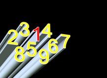 numery Obrazy Stock