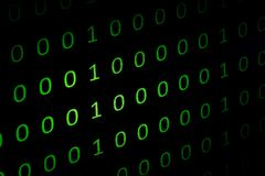 Numeryczny ciągły, abctract dane w binarnym kodzie, daje technologii felling fotografia stock