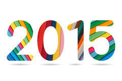 2015 numeryk od kolorowego papierowego przygotowania Zdjęcie Stock