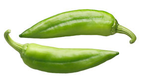 Numex Big Jim green chiles, paths Royalty Free Stock Photography
