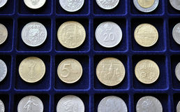 Numismatic Coin Collection. View of the numismatic collection of coins Stock Photography