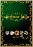 Numismatic cover album. 02 (vector) Royalty Free Stock Images