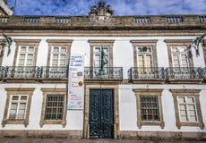 Numismatic museum in Porto. Porto, Portugal - December 8, 2016: Fornt facade of Balsemao Viscounts palace, house of Numismatic Museum in Porto Stock Photos