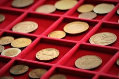 Numismatische baan Muntstukkeninzameling, investering royalty-vrije stock afbeeldingen