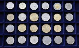 Numismatische Münzsammlung Stockbilder