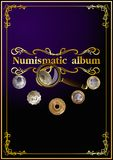 Numismatisches Abdeckungsalbum. 01 (Vektor) Lizenzfreies Stockfoto