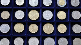 Numismatisk myntsamling Royaltyfri Foto