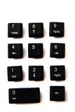 Numlock keyboard keys Royalty Free Stock Images