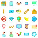Nummary icons set, cartoon style. Nummary icons set. Cartoon set of 25 nummary vector icons for web  on white background Royalty Free Stock Images