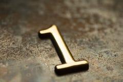 Nummer Één die van letters voorzien Stock Afbeelding