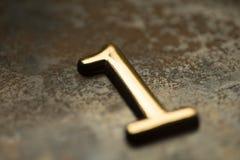 Nummer Één die van letters voorzien Stock Foto's