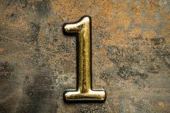 Nummer Één die van letters voorzien Stock Afbeeldingen