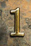 Nummer Één die van letters voorzien Royalty-vrije Stock Afbeeldingen
