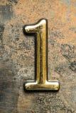 Nummer Één die van letters voorzien Stock Foto