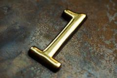 Nummer Één die van letters voorzien Royalty-vrije Stock Foto's