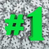 #1 nummer Één Hoogste Populairste Heetste Favoriet Stock Fotografie