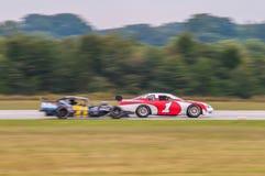 Nummer één raceautowinnaar Royalty-vrije Stock Afbeeldingen