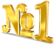 Nummer Één Teken vector illustratie