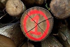 Nummer één timmerhout Stock Afbeelding