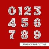 Nummer 1 één, 2 twee, 3 drie, 4 vier, 5 vijf, 6 zes, 7 zeven, 8 acht, 9 negen, 0 nul royalty-vrije illustratie