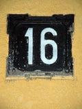 nummer 16 Royaltyfri Fotografi