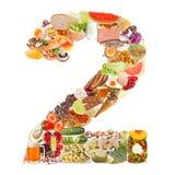 Nummer 2 dat van voedsel wordt gemaakt Stock Afbeeldingen
