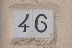 nummer 46 Arkivfoto