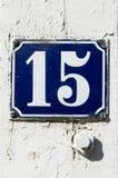 Nummer 15 fotografering för bildbyråer