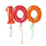 Nummer 100 Royalty-vrije Stock Foto's