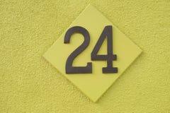 Nummer 24 Stock Foto