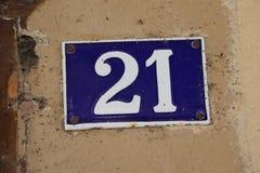 Nummer 21 arkivbild