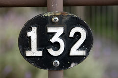 Nummer 132 Arkivfoto