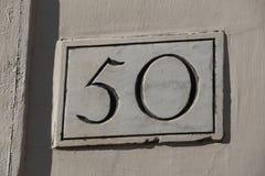 Nummer 50 arkivbild