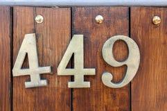 Nummer 449 stock foto