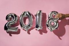 Nummer 2018, als nieuw jaar Stock Afbeeldingen
