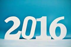 Nummer 2016, als nieuw jaar Stock Afbeeldingen