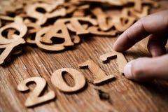Nummer 2017, als nieuw jaar Stock Foto