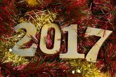 Nummer 2017, als nieuw jaar Stock Afbeeldingen