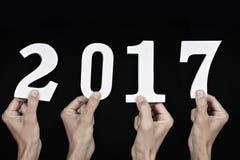 Nummer 2017, als nieuw jaar Stock Afbeelding