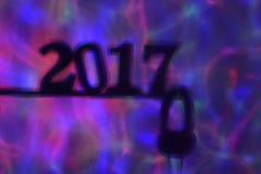 Nummer 2017, als nieuw jaar, en hoofdtelefoons Royalty-vrije Stock Fotografie