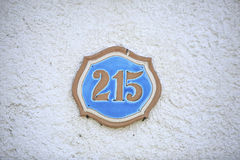 Nummer av ett gatahus Fotografering för Bildbyråer