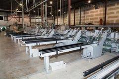 Nummer av maskinerna i fabriken arkivfoto