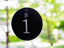Nummer Eins-Platte der Tabelle im Restaurant Stockfoto