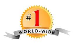 nummer ett över hela världen stock illustrationer